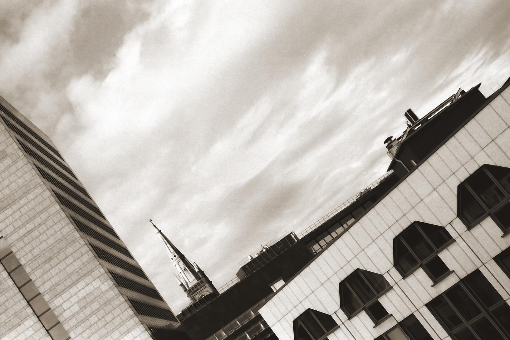Blick über Häuserdächer