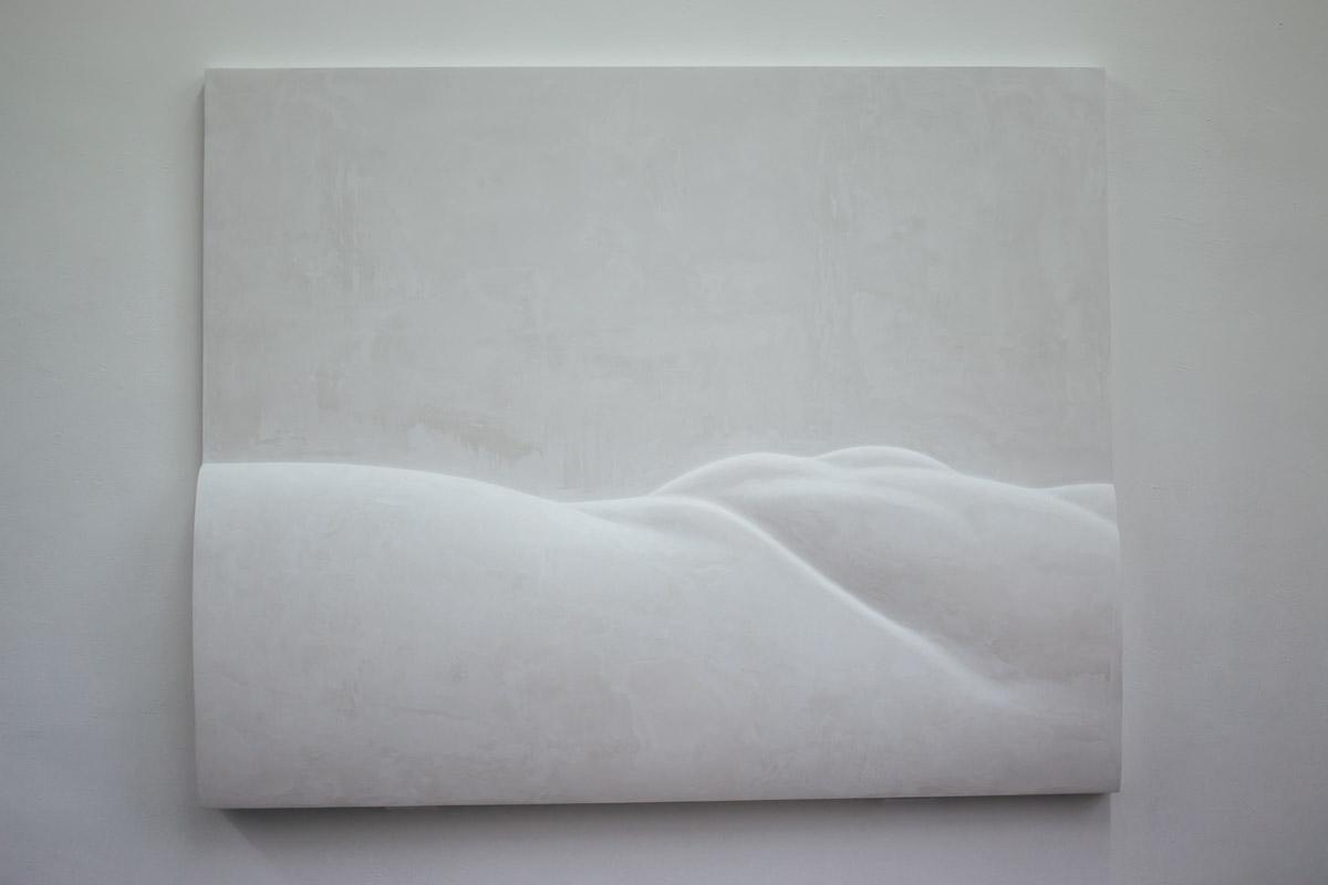 Weißes strukturiertes Bild an der Wand