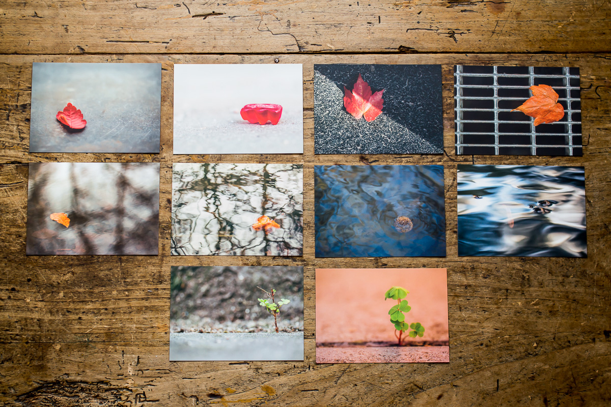 10 Postkarten mit minimalistischen Motiven