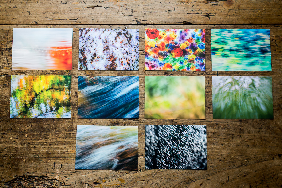 10 Postkarten mit abstrakten Bildern