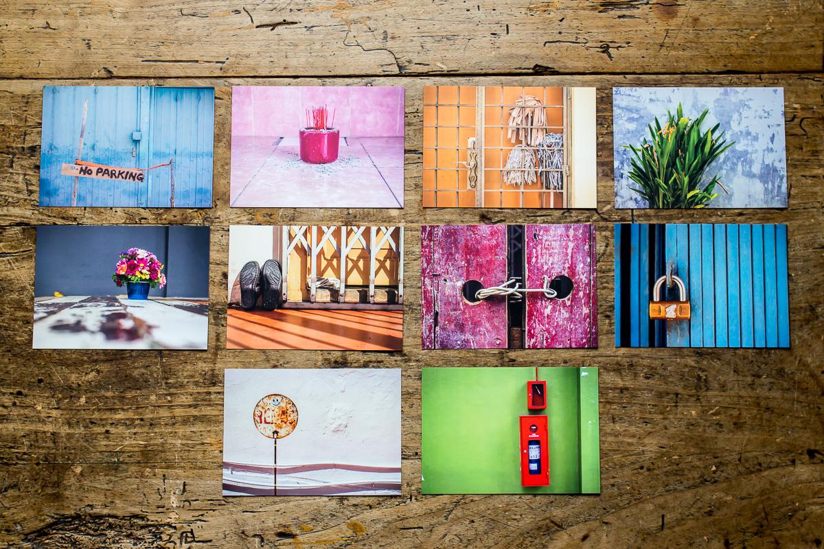 10 Postkarten mit bunten Detailaufnahmen aus Asien